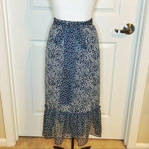 LOFT Full Wrap Floral Maxi Skirt B6